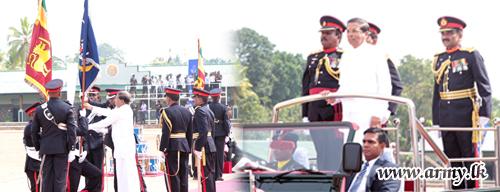 Sri Lanka Army's Oldest War Veterans Respected with President's & Unit Colours