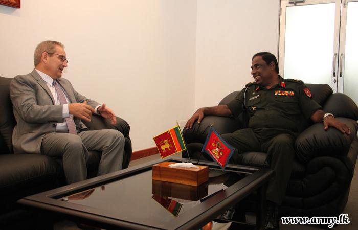 Swiss Envoy Meets SFHQ-J Commander