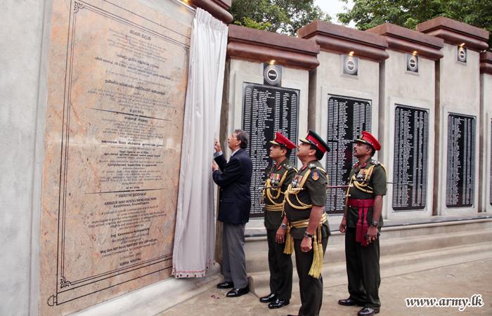 Armour War Heroes' Memorial Park Opened