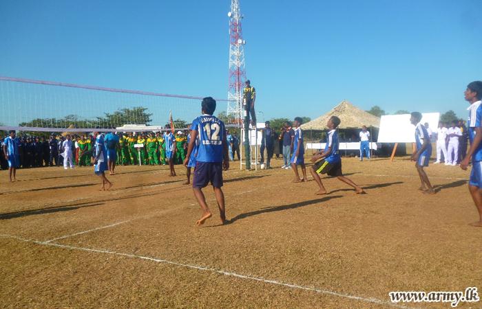 65 Div-Organized Volleyball Tournament Attracts Civil & School Teams