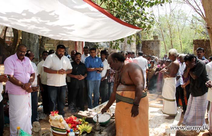 Jaffna Troops Facilitate Devotees; Poojas in HSZ Held After 28 Years