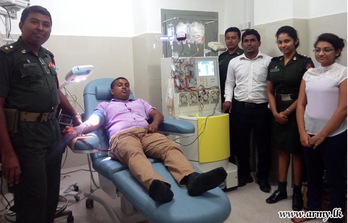 Army Hospital Blood Bank Gets New Apheresis Machine