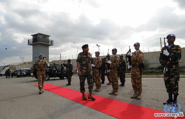 Sri Lanka's Military Advisor for UN Inspects Troops in Lebanon