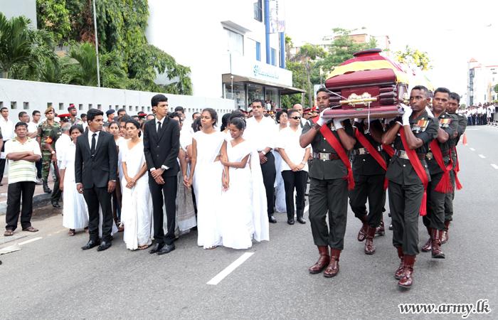 Major General Manawaduge's Funeral Held with Military Honours