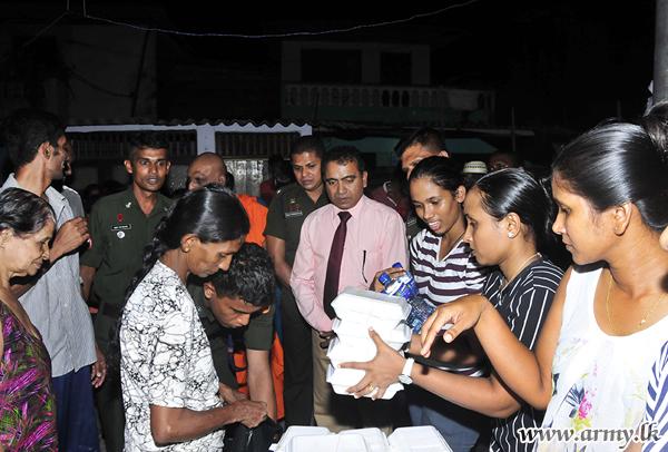Seva Vanitha Distributes Cooked Meals