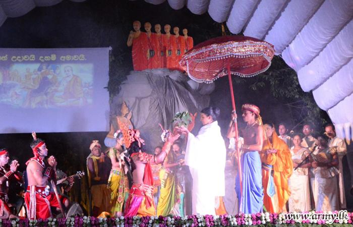 Wanni Troops Commemorate 'Poson Full Moon Poya Day' at Sandahiru Seya Premises