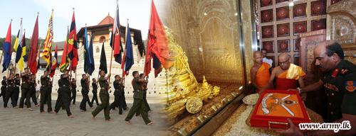 Blessings on Army Flags Invoked in Sri Dalada Maligawa