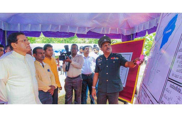 Nation-building Army Troops Start Renovation of 'Chandana Pokuna' Tank in Hingurakgoda