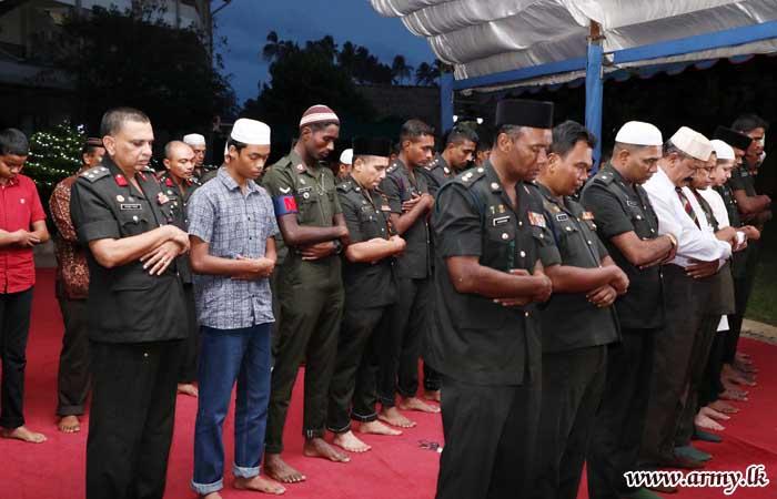 Commander Joins Ramadan Breaking of Fast