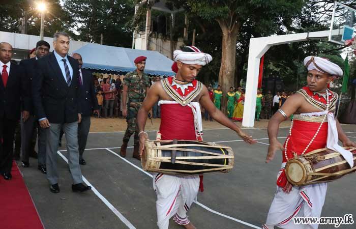 யாழ் பாதுகாப்பு படைத் தலைமையகத்தின் ஏற்பாட்டில் நடைபெற்ற கூடைப் பந்துப் போட்டி