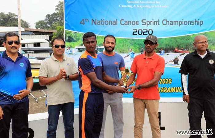 படகோட்ட  சம்பியன்ஷிப் போட்டியில்  இராணுவத்தினர் வெற்றி