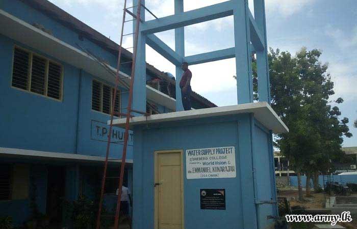 4 VIR Troops Assist Renovation of Roofs of Jaffna College