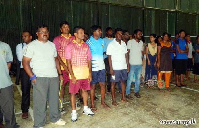64 Division Troops Assist to Make Mullaittivu District Badminton Tournament a Success