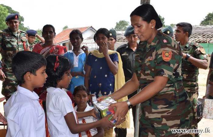 6 (V) SLAWC Troops Provide Shoes to Barathipuram Students