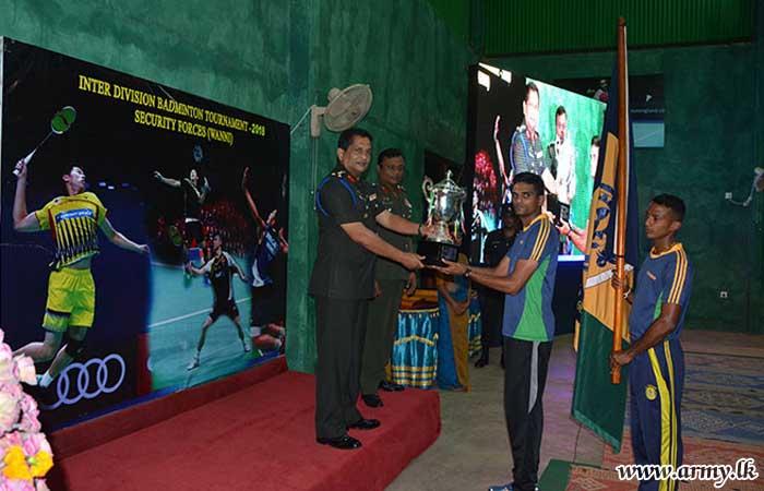 56 Div Wins Wanni Badminton Trophy