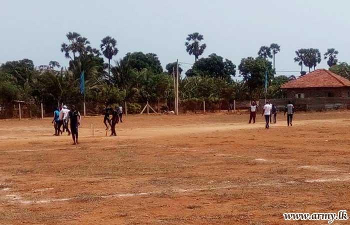 513 Brigade Plays Cricket with Civil Cricket Clubs