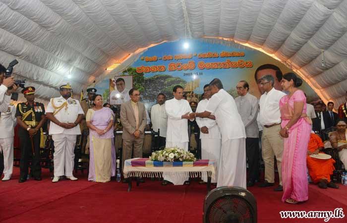 'Wayamba Rana Abhiman' War Memorial Unveiled in Kurunegala