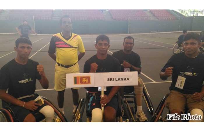 அங்கவீனமுற்ற இராணுவ வீரர்கள் தாய்லாந்து சக்கர நாற்காலி டெனிஸ் போட்டிகளில் வெற்றி