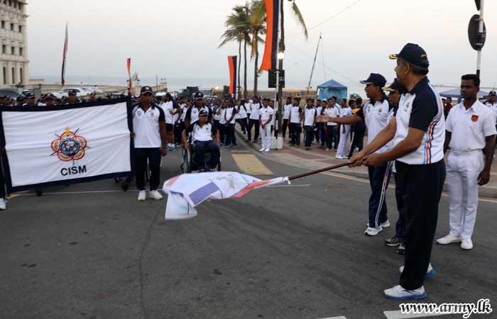 Tri-Servicemen Join CISM Run in Their Hundreds