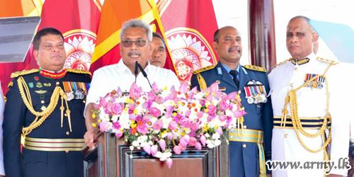 Sri Lanka's 7th Executive President Assuring to Unify All under One Flag Takes Oath at Sacred 'Ruwanweli Maha Seya' Premises