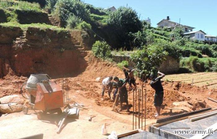 3 (V) SLSR Troops Remove Soil Mound Near Meditation Centre
