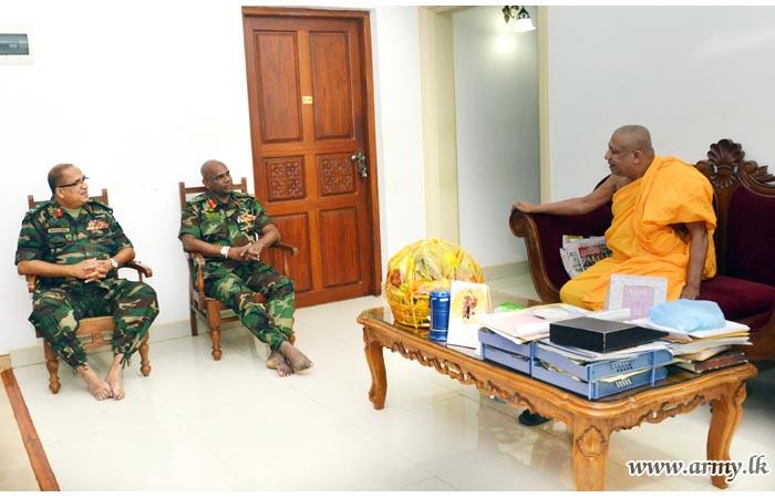 Commander Receives Blessings in Anuradhapura