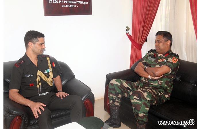 Indian High Commission's Assistant Defence Attaché Visits SFHQs- Kilinochchi & Jaffna