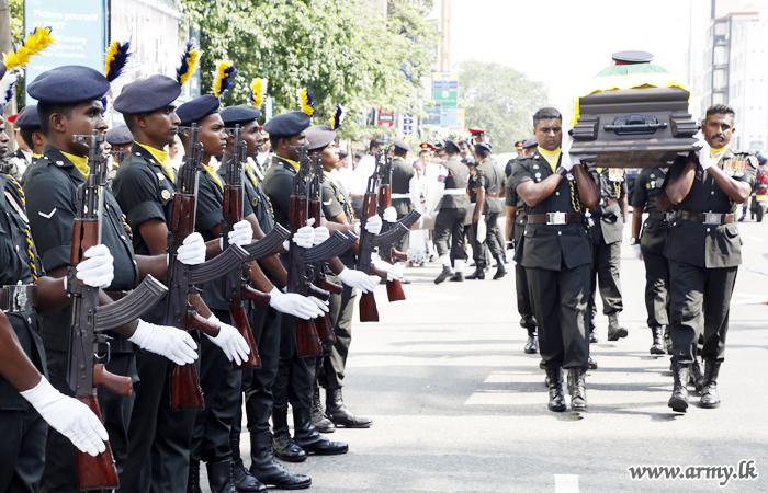 Brigadier K Attanayake (Retd) Laid to Rest