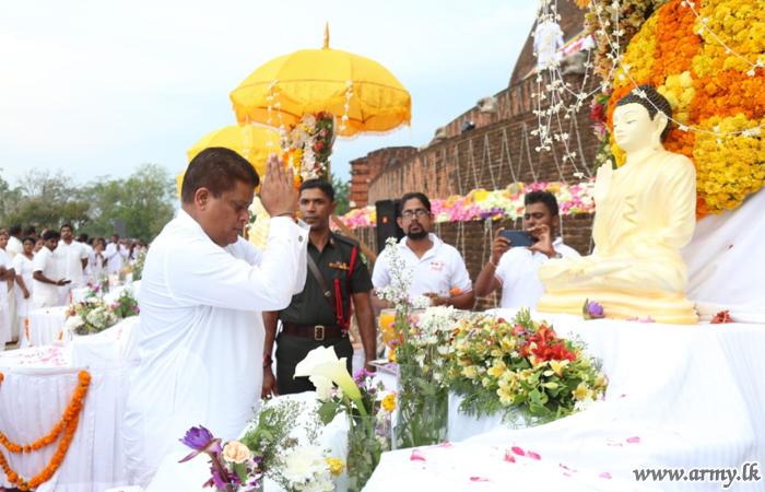Mammoth 'Pinkama' at Jethawanaramaya Commemorates Supreme Sacrifices of War Heroes