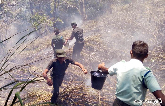 Troops Douse Wildfire in Boowelikada