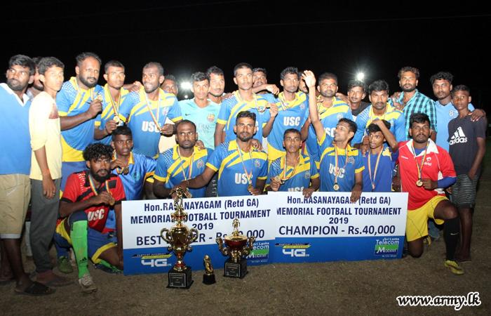 571 Brigade-Organized 'T Rasanayagam Memorial Football Tournament' Won by Udayatharukei Sports Club Team
