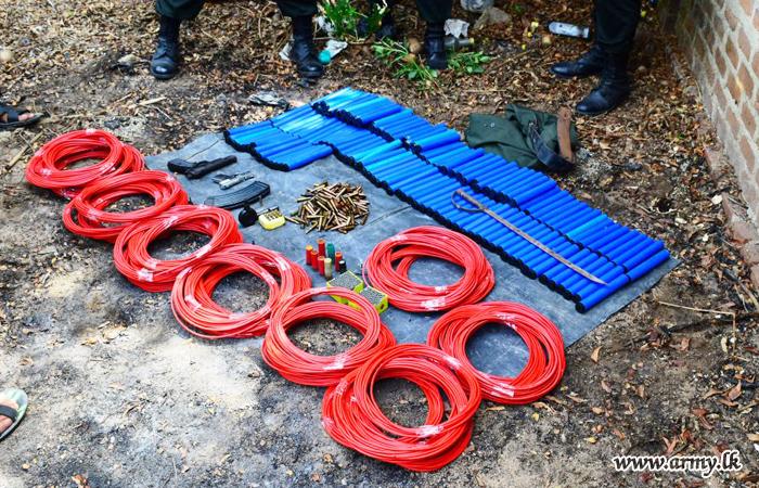 East & West Troops Find Record Stocks of Weapons, Explosives from Eravur, Sammanthurai,  Wan Ela, Serunuwara & Kotiyakumbura