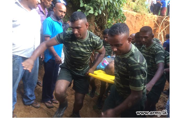 SLEME Training School Trainees Evacuate Soil Bund Victims