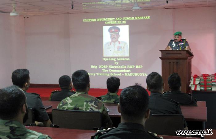Counter Insurgency Jungle Warfare Officer Course No 25 at ATS Begins