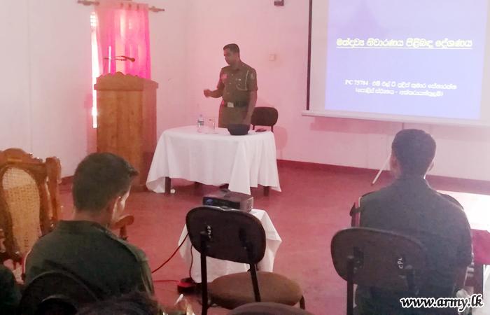 All Ranks Listen to 'Drug Addiction & Its Prevention' Lecture in Kilinochchi