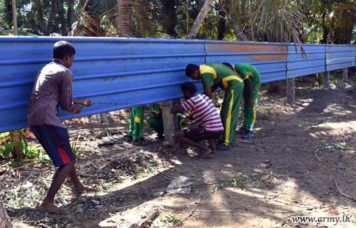 651 Brigade Troops Clean up Pre School