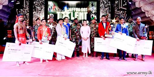 'Dancing & Singing Stars' among Jaffna Troops Crowned amidst Roaring Applause