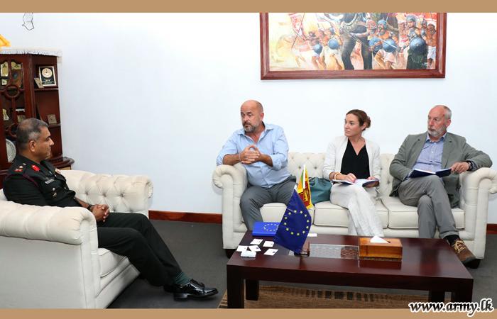 European Union Delegation Meets Jaffna Commander