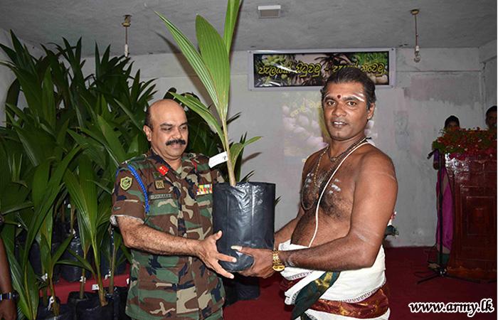 56 Division Distributes 1000 Coconut Saplings among Civilians