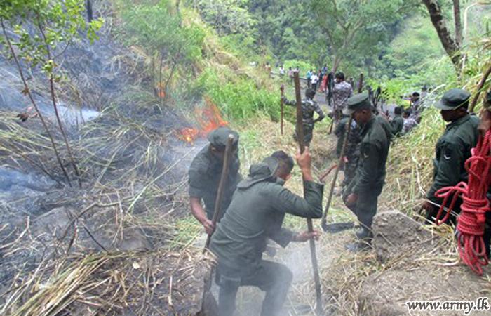 Central Troops Help Douse Bush-fire in Kumbalwela