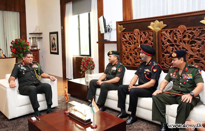India's NDC Delegates Meet Commander at AHQ