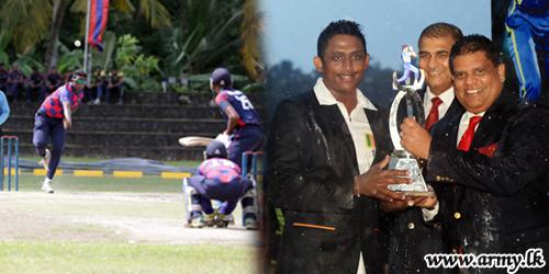 படையணிகளுக்கு இடையிலான கிரிக்கட் போட்டியில் லெப்டினன்ட் அஜந்த மென்டிஷ் பங்கேற்பு