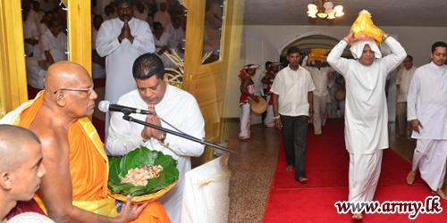 பனாகொடை விகாரையில் இடம்பெற்ற இராணுவ நினைவு தின மத வழிபாடுகள்
