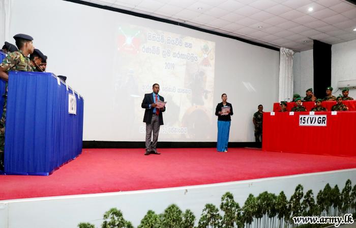 யாழ் பாதுகாப்பு தலைமையகத்தில் இடம்பெற்ற  2019 வரைபடம் மற்றும் கள உத்தி போட்டிகள்