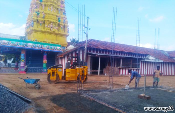 571 Brigade Troops Build Pedestrian Track for Devotees