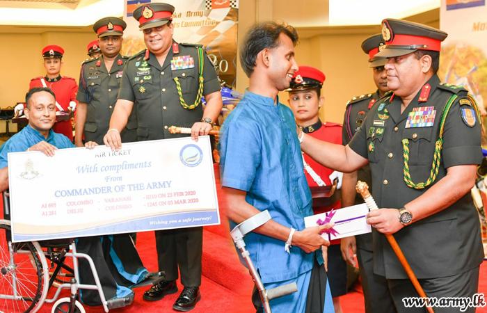 One More Batch of Disabled War Heroes on Pilgrimage to 'Dambadiwa'