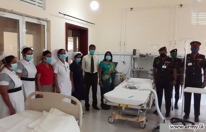 SLEME Troops Make ICU Ward at Mulleriyawa Functional Installing Air System