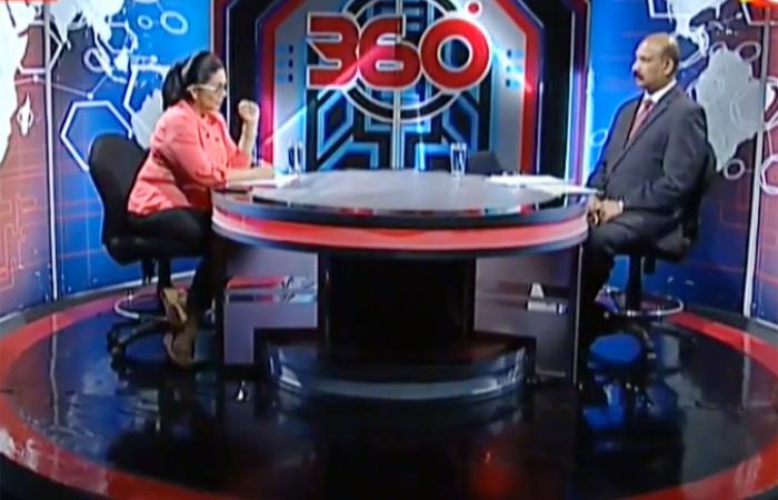 Secretary Defence Shares Views with Derana TV '360' Programme
