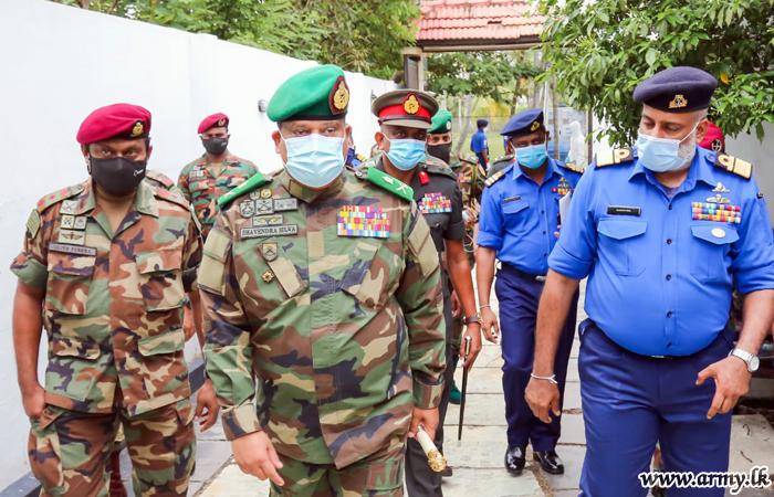 Head of NOCPCO during Surprise Visits Assesses Quarantine Process in Galle Area