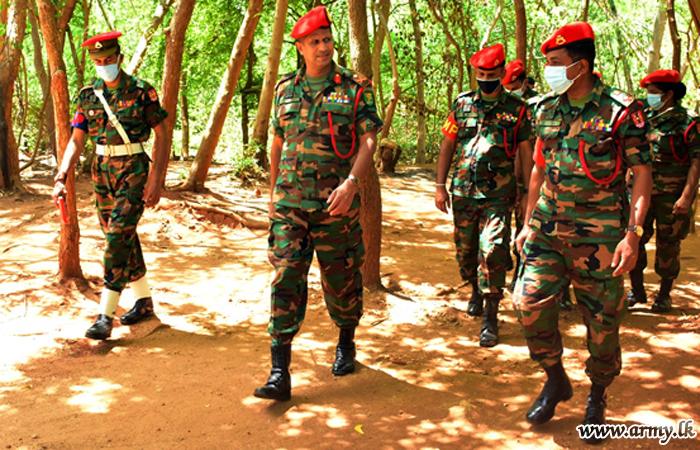 SLCMP Colonel Commandant Visits 4 SLCMP Camp